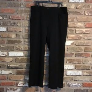 TALBOTS Curvy Black Stretch Trousers